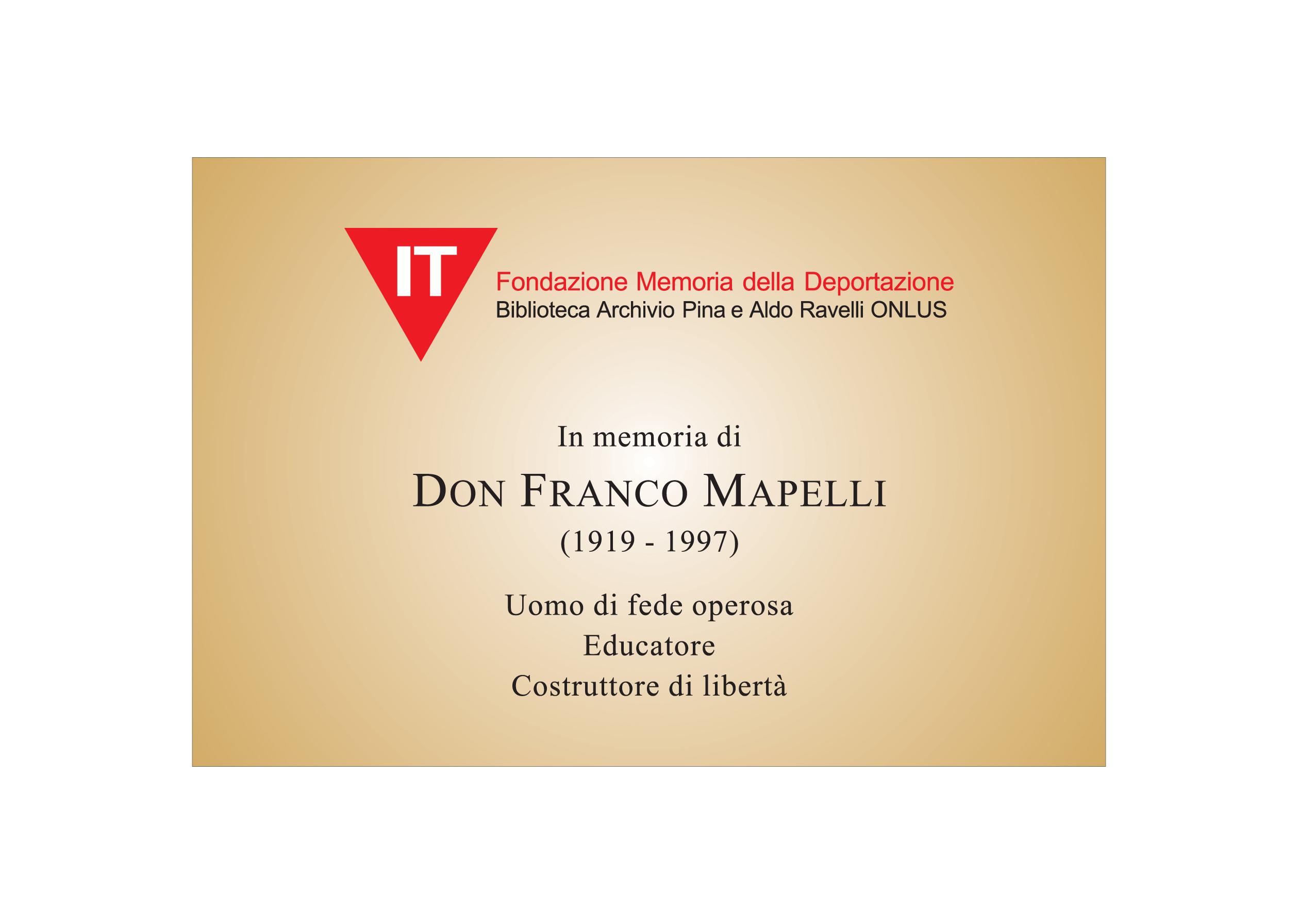 Targa Don Franco Mapelli copy